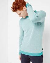 BOLTIN Textured crew neck sweater