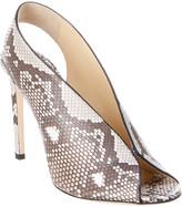 Jimmy Choo Shar 100 Matte Python Sandal