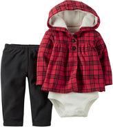 Carter's Hoodie, Bodysuit and Pants - Baby Girls newborn-24m