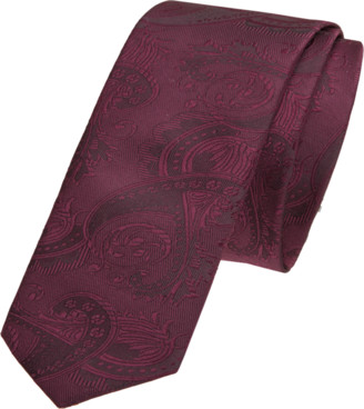 yd. Burgundy Cordova 5cm Tie