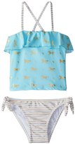 Snapper Rock Girls' Gold Horse Tankini Set (2T6) - 8155111