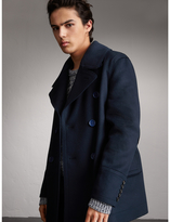 Burberry Resin Button Wool Pea Coat