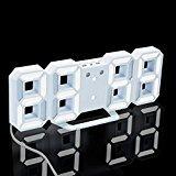 Quartly Modern LED Digital Wall Table Desk Night Wall Clock Alarm Watch 24 or 12 Hour Display (A)