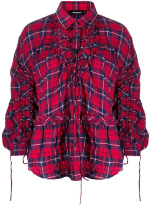 DSQUARED2 check print shirt