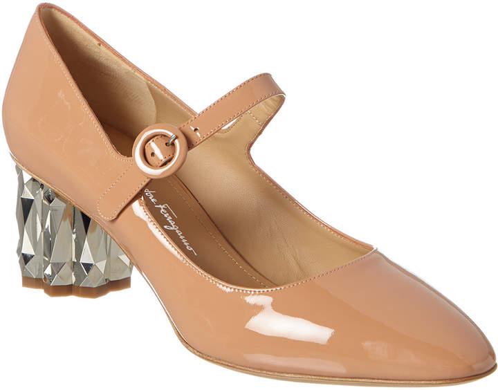 2f32f23d051 Ortensia Flower Heel Patent Pump