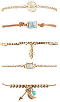 Aeropostale Womens Feather Bracelet 5-Pack