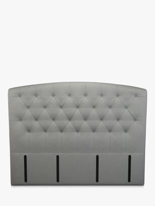 John Lewis & Partners Rouen Full Depth Upholstered Headboard, Super King Size