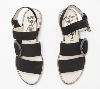 Fly London Leather Sandals with Buckle Detail - Codo