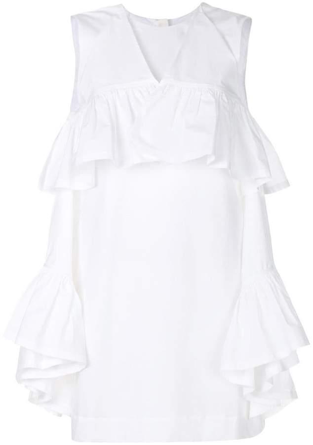 MSGM ruffled mini dress