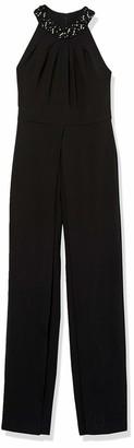Tahari by Arthur S. Levine Women's Crepe Sleeveless Halter Jumpsuit