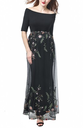 Kimi and Kai Willow Off the Shoulder Maternity Gown