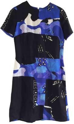 Michael Van Der Ham Blue Silk Dress for Women