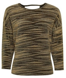 Dorothy Perkins Womens Gold Batwing Sleeve Top, Gold
