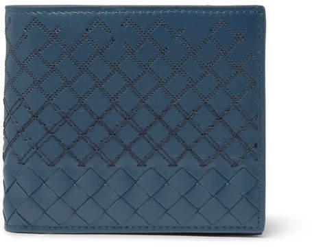 Bottega Veneta Embroidered Intrecciato Leather Billfold Wallet