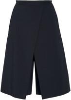 Tibi City layered stretch cotton-blend twill culottes