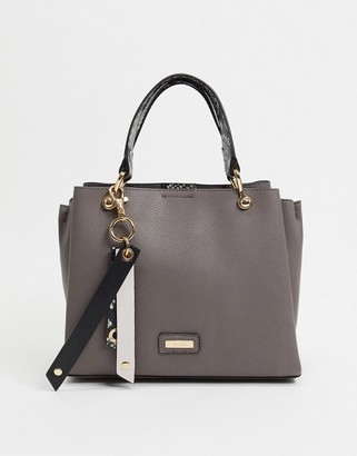 Aldo viremma croc effect tote bag in dark grey
