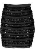Valentino R.E.D. Black Embroidered Skirt