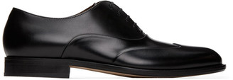 HUGO BOSS Black Polished Leather Oxfords