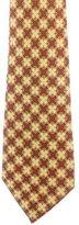 Hermes Geometric Pattern Silk Tie