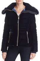 Elie Tahari Blakely Fur Trim Down Jacket