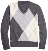 Brooks Brothers Asymmetrical Argyle Sweater