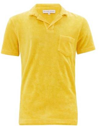 Orlebar Brown Terry Cotton Polo Shirt - Mens - Yellow