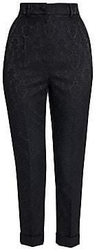 Dolce & Gabbana Women's Jacquard Slim Ankle Pants