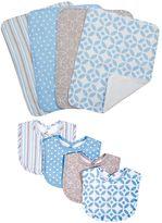 Trend Lab Lauren Lily Logan 8-pc. Bib & Burp Cloth Set
