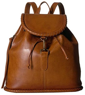 Scully Sangria Whipstitch Backpack (Brown) Backpack Bags