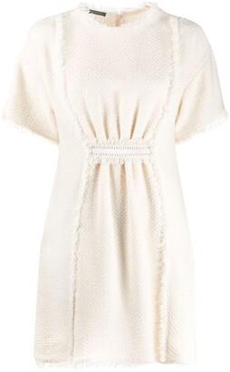 Alberta Ferretti Tweed Mini Dress