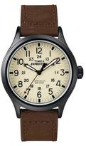 Timex Men's Expedition® Scout Watch with Leather Strap - Black/Brown T49963JT