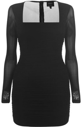 Bardot Long Sleeve Party Dress