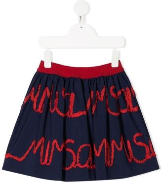 Mi Mi Sol Logo Embroidered Skirt