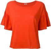 P.A.R.O.S.H. ruffled sleeves T-shirt - women - Cotton - XS