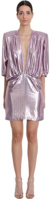 NERVI Chloe Dress In Rose-pink Silk