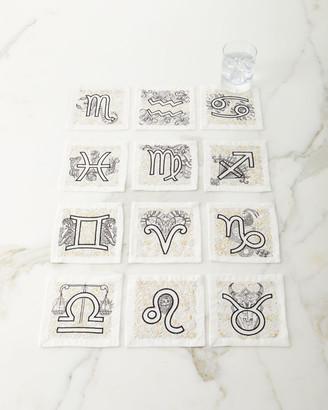 Kim Seybert Astrology Cocktail Napkins, Set of 12