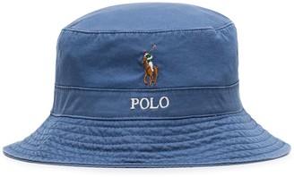 Polo Ralph Lauren Logo Embroidery Bucket Hat