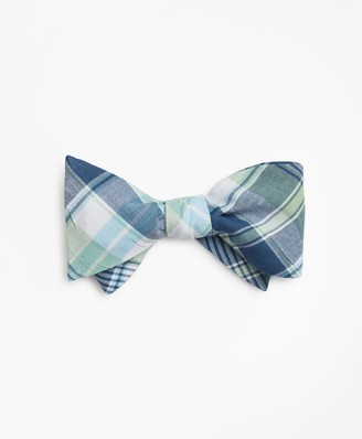 Brooks Brothers Green Madras Bow Tie
