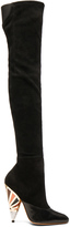 Givenchy Multicolor Heel Suede Over the Knee Boots