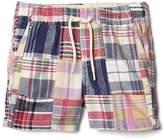 Patchwork plaid shorts