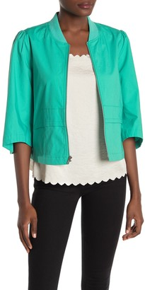 BCBGeneration Ripstop Woven Cropped Bomber Jacket