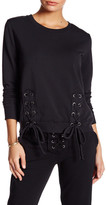 Young Fabulous & Broke Front Lace-Up Knit Sweater