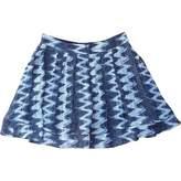 CNC Costume National Blue Silk Skirt for Women