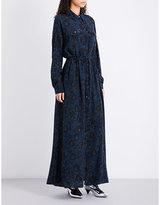 Kenzo Floral-print silk shirt dress