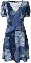 Moschino V-neck patchwork dress