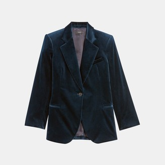 Theory Cinched Blazer in Stretch Velvet