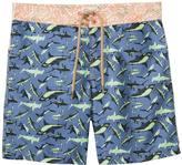 Maaji Men's Sharpy Sharks Long Swim Trunk 8137666