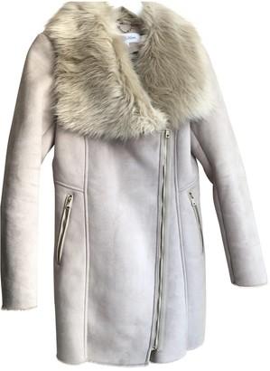 Calvin Klein Beige Faux fur Coat for Women