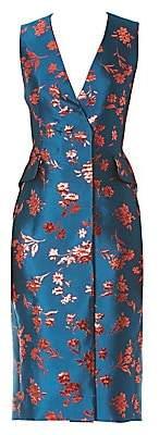 Carolina Herrera Women's Floral Double-Breasted Sheath Dress