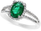 Effy Brasilica by Emerald (1-1/8 ct. t.w.) and Diamond (1/5 ct. t.w.) Ring in 14k White Gold